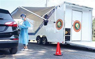 New medical trailer for COVID-19 testing