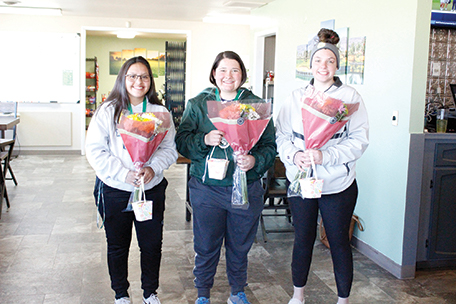 Battle Mountain's seniors Adriana Robles, Destiny Villanueva and Savanah Grant played their final home tournament last week.