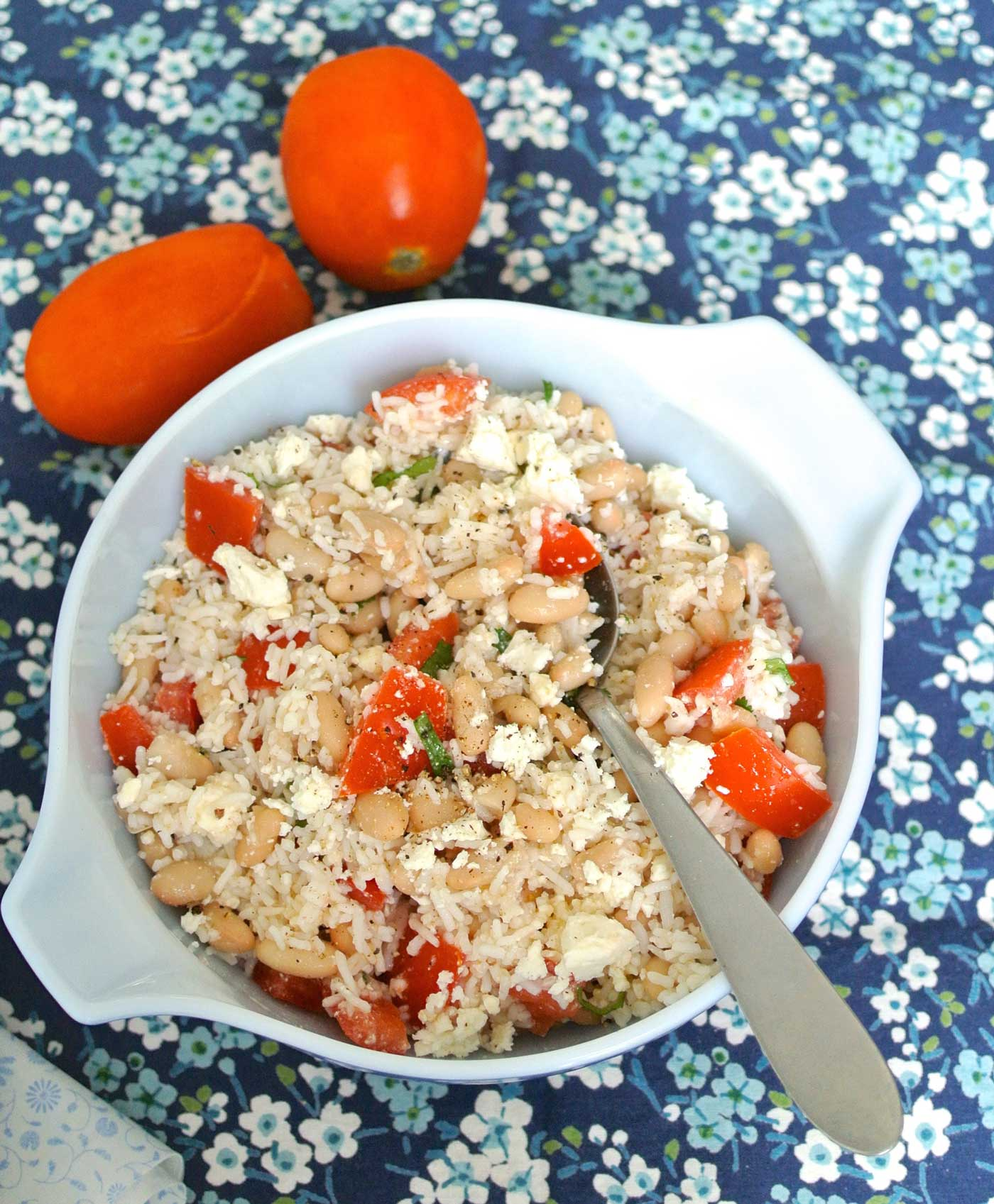 SALAD DAYS: Rice Salad with Tomato, Feta and Beans