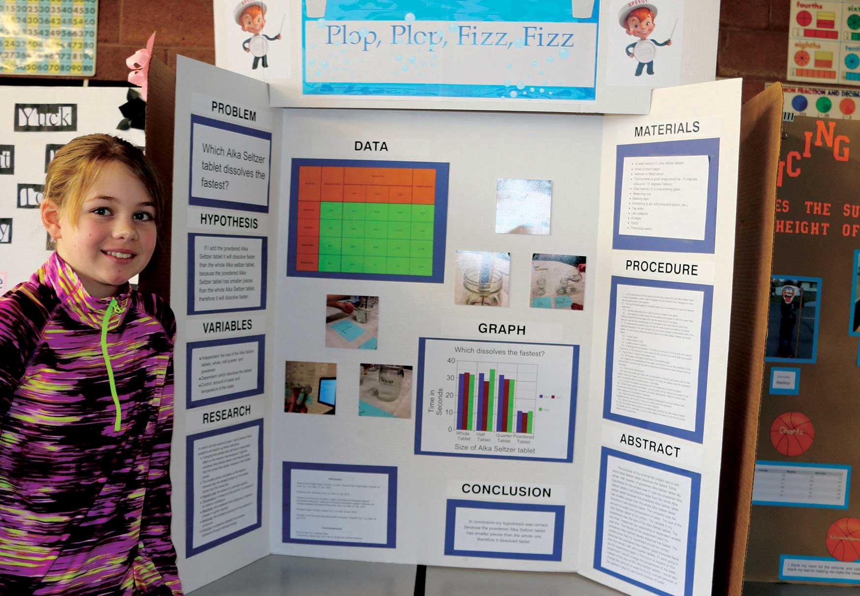 Poster board science project